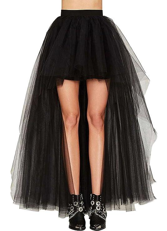 Falda estilo teampunk gótico de gasa para disfraz en halloween o para fiestas.