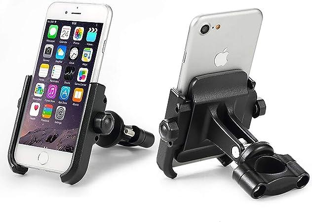 Almencla Motorrad Handyhalterung Handyhalter mit USB-Ladeger/ät f/ür 4-6.5 Handy GPS und andere Ger/äte