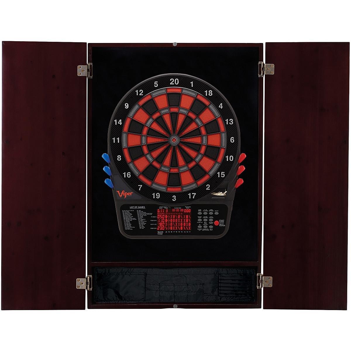 Viper 800 Electronic Dartboard & Metropolitan Mahogany Finish Cabinet