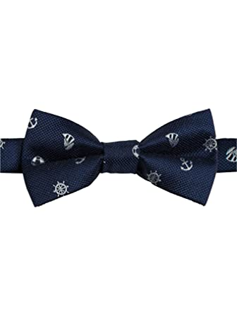 155c54f703b2 Paisley of London, Boys Dickie Bows, Boys Navy Bow Tie, Anchor Dickie Bow,  Banded Dickie Bow: Amazon.co.uk: Clothing