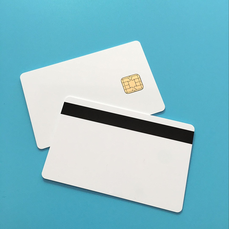 J2A040 Chip Java JCOP Cards 40k EEPROM w / 2 Track Hi CO Magstripe  Compatible JCOP21 36K Java JCOP Based Smart Card with SDK Kit (10 PCS)