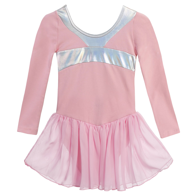 Arshiner Girls' Classic Long Sleeve Ballet Leotard Dance Dress **AMS005045