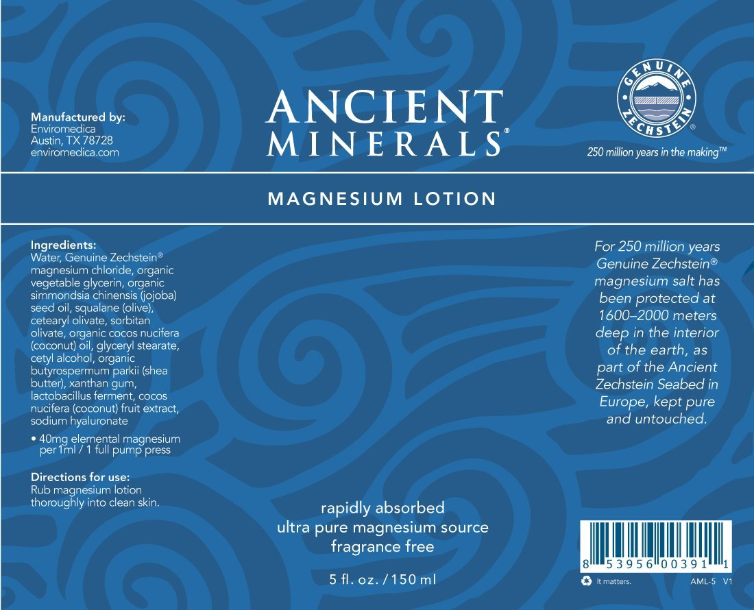 Ancient Minerals Magnesium Lotion of Pure Genuine Zechstein Magnesium Chloride - Best uesd for Topical Skin Application on Sensitive Skin(5oz) by Ancient Minerals (Image #1)