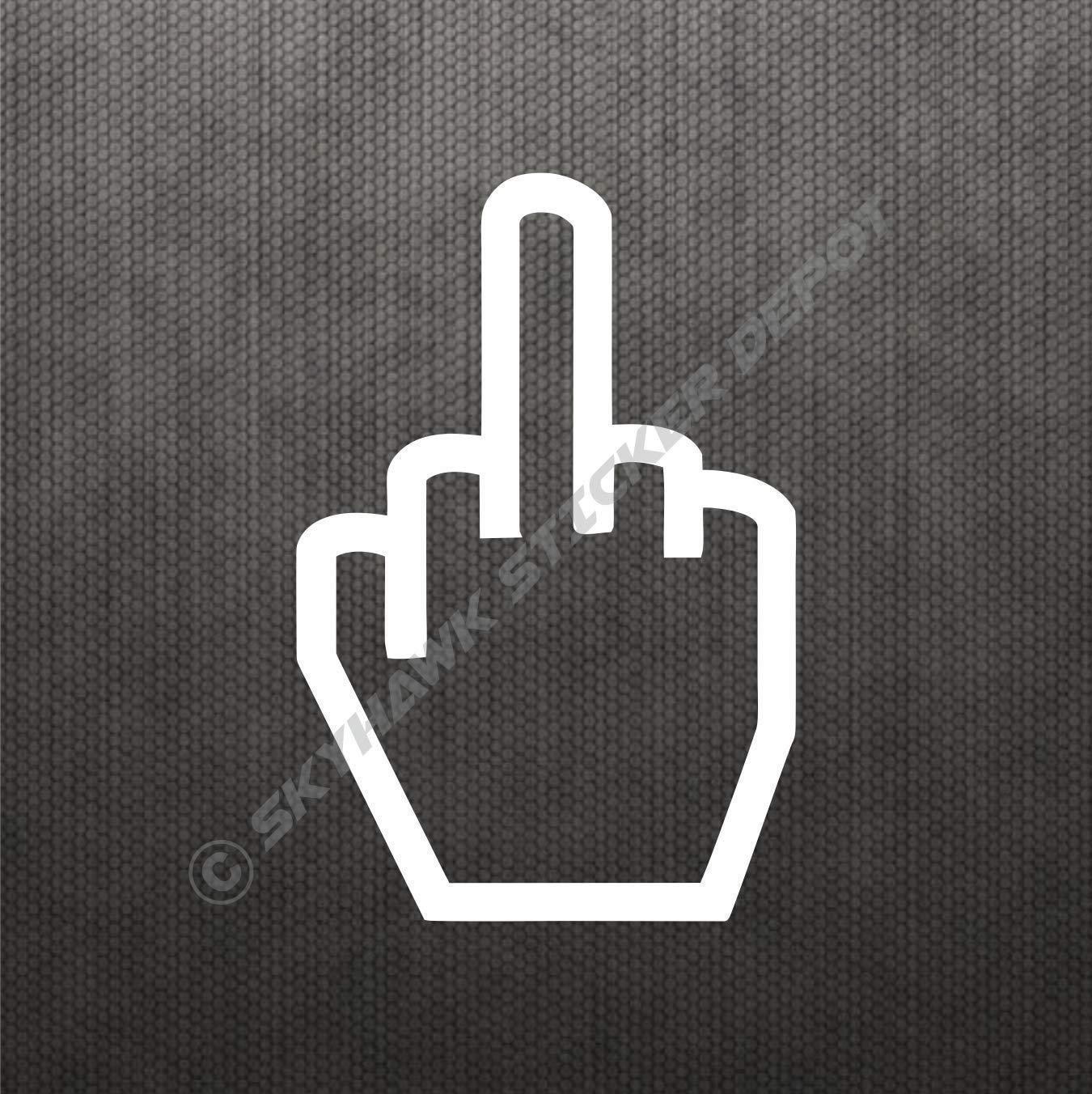 Middle Finger Funny Hand Gesture Jdm Car Body Window Bumper Vinyl Decal Sticker