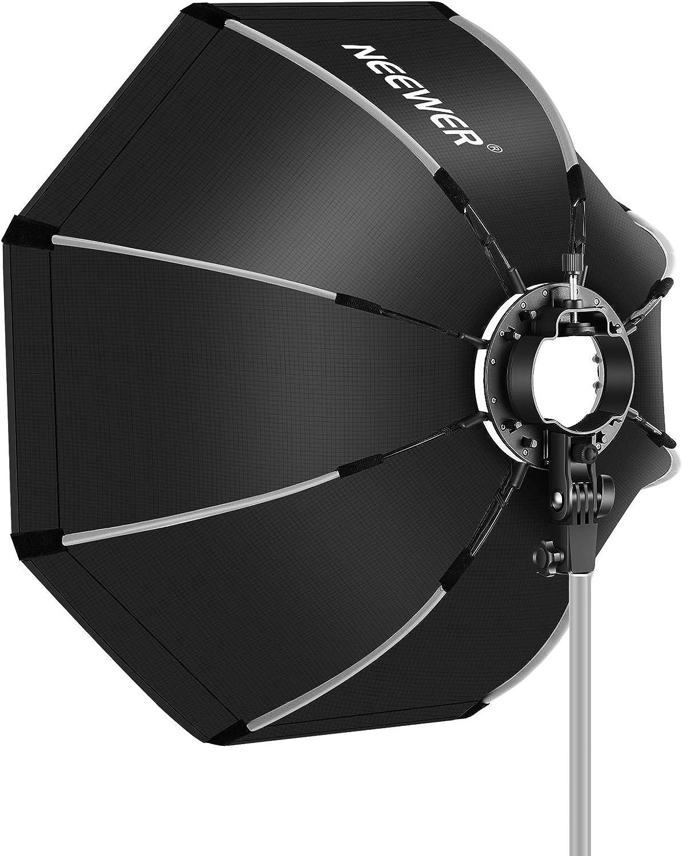 Neewer 65 CM Caja de Luz Octogonal con Soporte Tipo S Estuche de Transporte Compatible con Flash de C/ámara Speedlites Q3 R1 V1 Z1 TT560 NW550 NW561