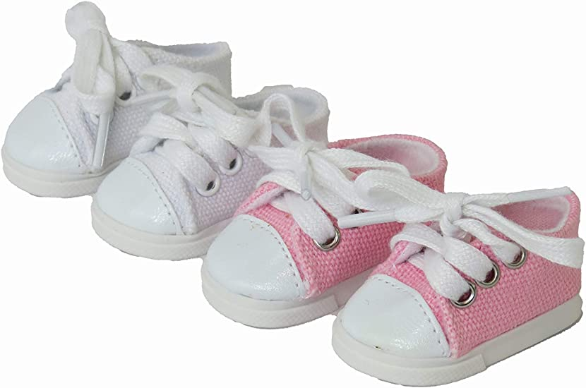 """14/"""" Wellie Wishers American Girl Doll White Sandals Accessories Shoes"""