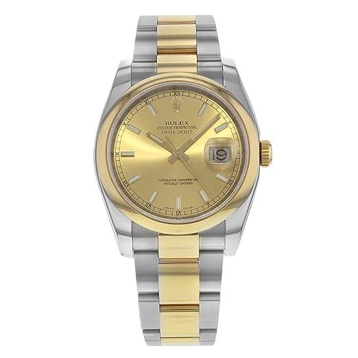 Rolex Datejust automatic-self-wind Mens Reloj 116203 (Certificado) de segunda mano: Rolex: Amazon.es: Relojes