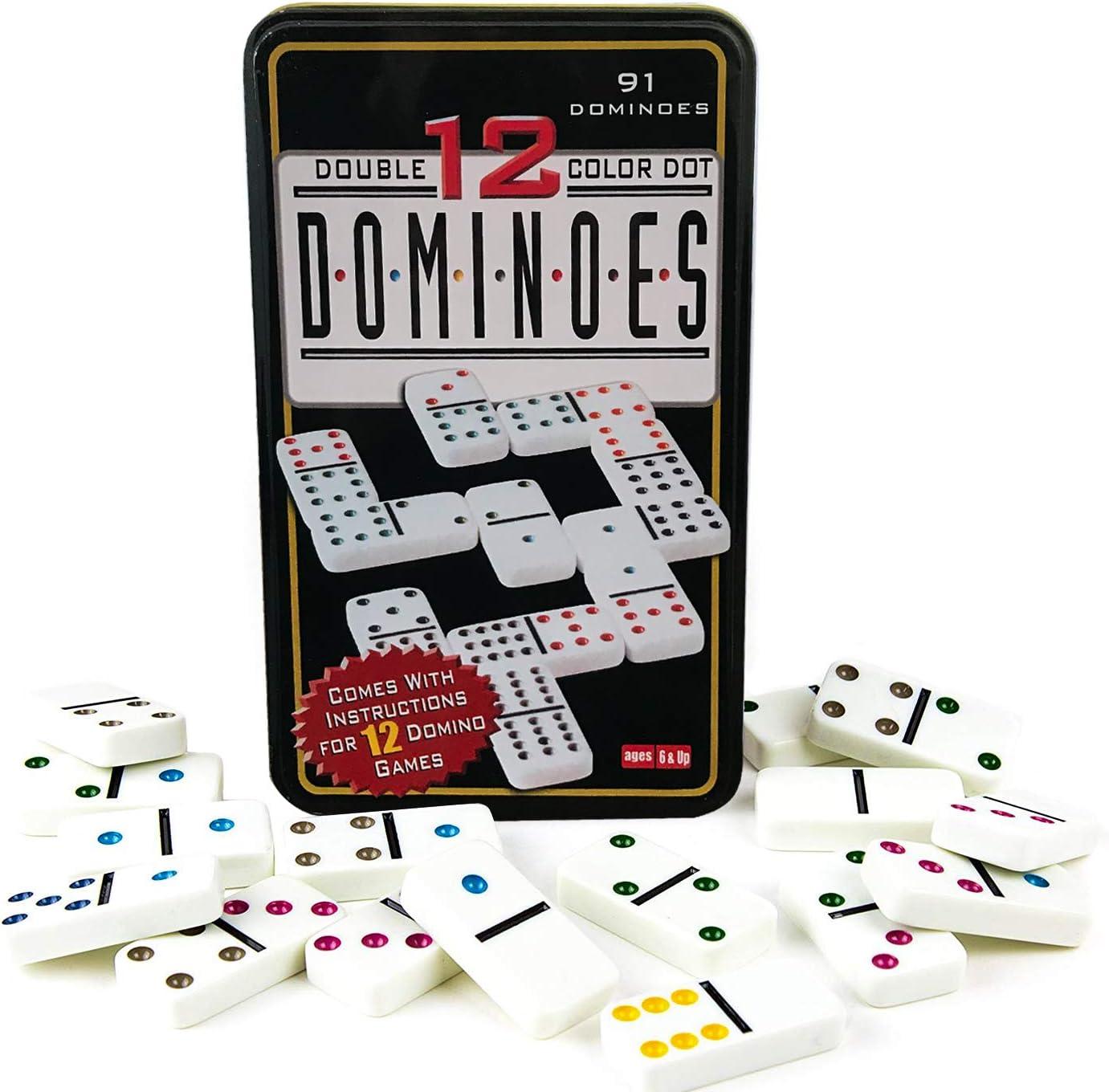 Domino doble 12.Niños y adultos Juego de táctica - Juego de mesa: Amazon.es: Juguetes y juegos