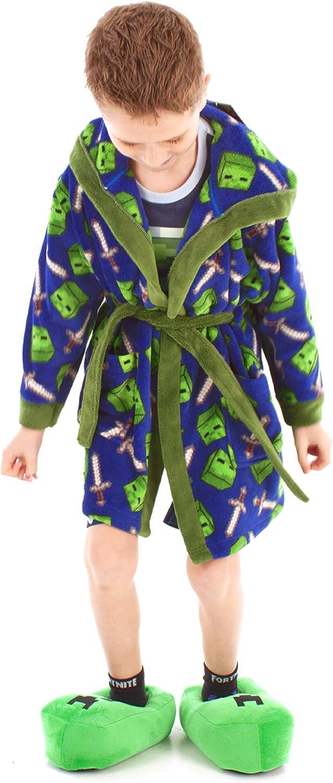 NEW Minecraft Robe Size 6 8 10 12 Boys Bathrobe Pajama Small Medium Large XL NWT