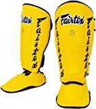 Fairtex Muay Thai Shin Guards SP7 Black Shin Protection for Muay Thia MMA K1