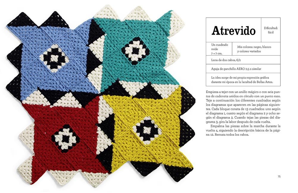Granny squares contemporáneos : 20 cuadrados de crochet de ...