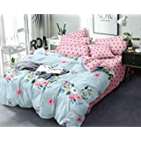 Sohung Creations Beautiful Glace Cotton AC Comforter King Size Bed Comforter, Double Bed Sheet, 2 Pillow Cover (90x100 Inches) - Set of 4 Pieces