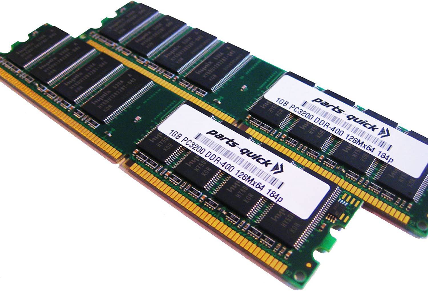 parts-quick 2GB 2 X 1GB PC3200 400MHz 184 pin DDR SDRAM Non-ECC DIMM Desktop Memory for Apple Power Mac G5 1.8GHz Brand