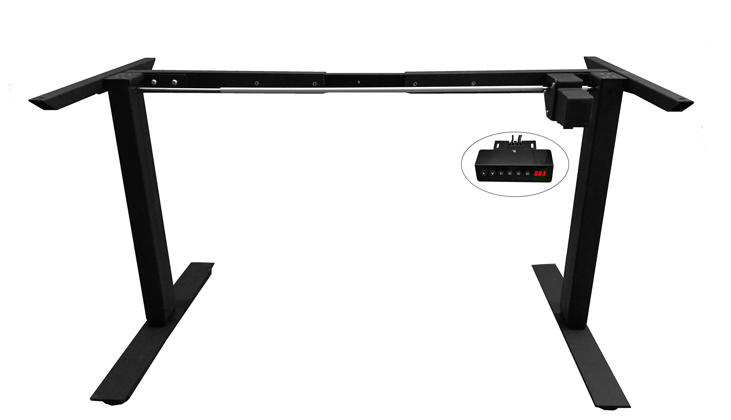 Anthrodesk Sit to Stand Height Adjustable Standing Desk (Programmable Black Single Motor)