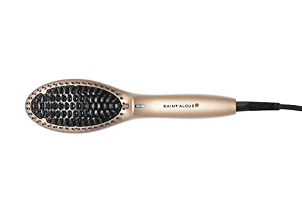 Saint Algue 3902 Straightening brush Caliente Negro, Oro 52W 2.5m Utensilio de peinado -