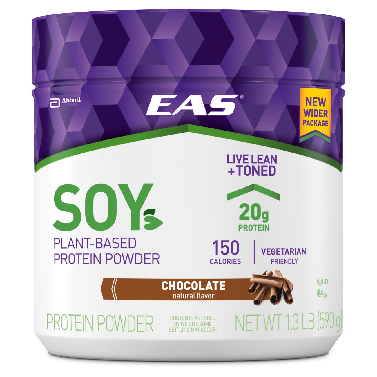 EAS Soy Protein Powder, Chocolate, 1.3 Pound