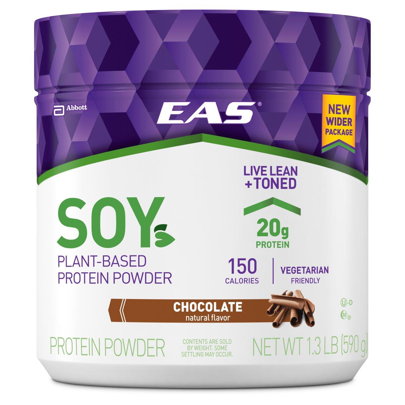 EAS Soy Protein Powder, Chocolate, 1.3 Pound