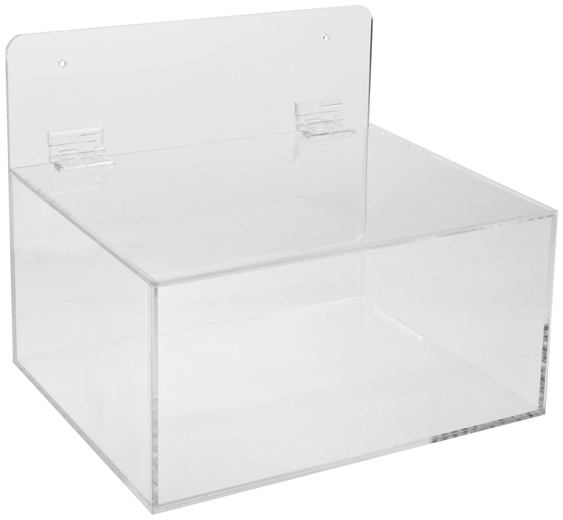 Brady MPPE Plastic Acrylic Miscellaneous Dispenser, Clear, 11-1/2'' W, 9-1/2'' D, 9-1/2'' H