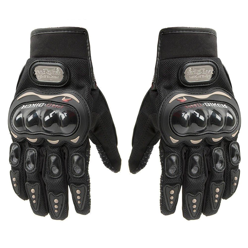 Tcbunny Pro-biker Motorbike Carbon Fiber Powersports Racing Gloves (Blue, Large)