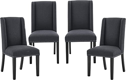 Set of 4 Fabric Dining Chairs Modern Tufted Chair Upholstered Dining Room Chair High Back Dining Chair Parsons Chair Accent Dining Chair