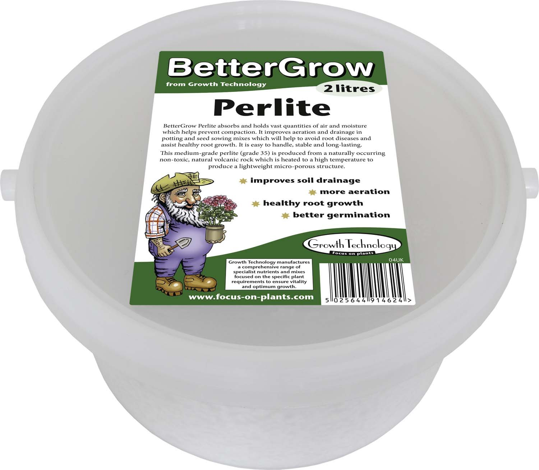 BetterGrow Perlite Tub 2 Litre Growth Technology