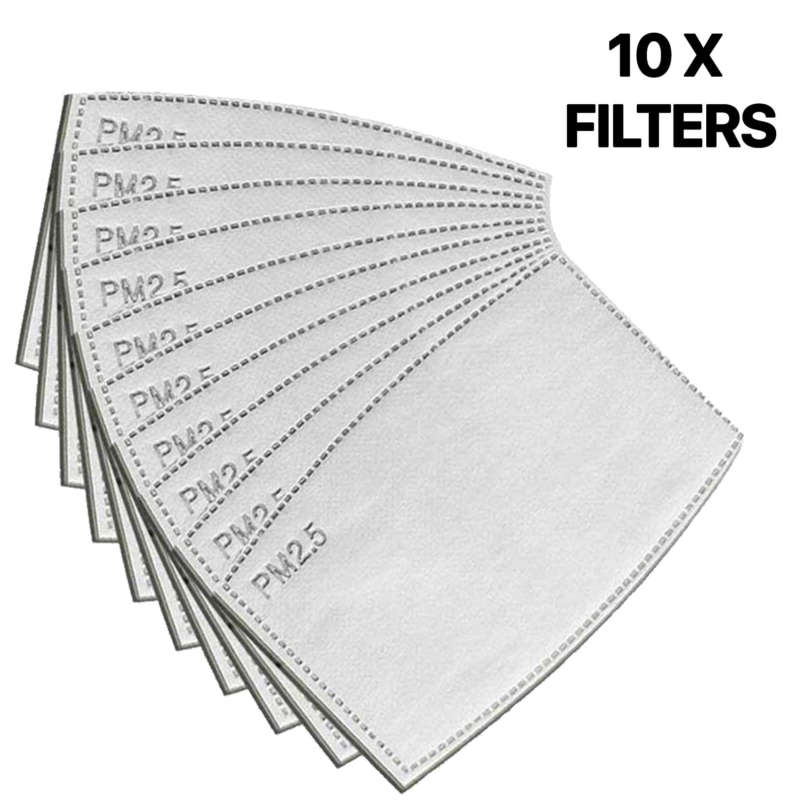 Tanness 10x Mask Filter Replacement, Protective Filter, PM2.5 Protective Filter 5 Layers Replaceable Anti Haze Filters…