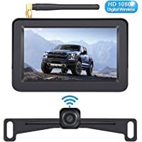DoHonest HD 1080P Digital Wireless Backup Camera Kit with 5 Inch TFT Monitor for Trucks,Cars,SUVs,Vans,Campers Rear View Camera Super Night Vision