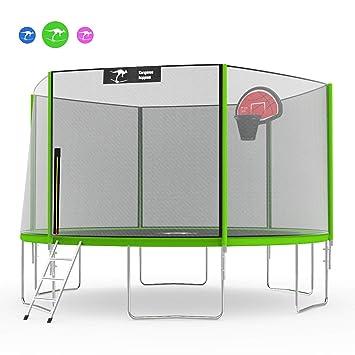 Amazon.com: Kangaroo Hoppers - Cama elástica con red de ...