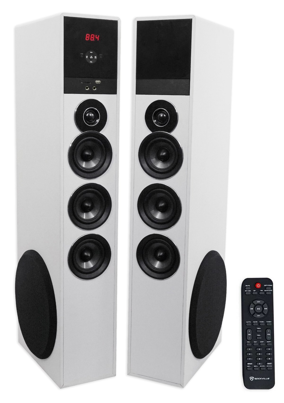 Tower Speaker Home Theater System w/Sub For Samsung Q6F Television TV-White