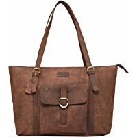 Leaderachi Women's Muskat Hunter Leather Tote Bag - Ragusa