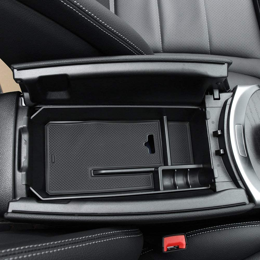 Gaoominy Car Center Console Armrest Box Storage Box Container Tray Organizer Accessories for Mercedes C Glc Class W205 2015+