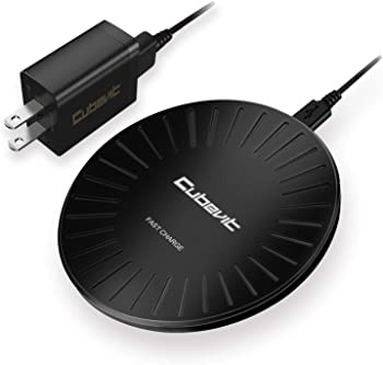 Cubevit Qi Wireless Charging Pad Stand for iPhone X, 8, 8 Plus and Galaxy S9, S9 plus