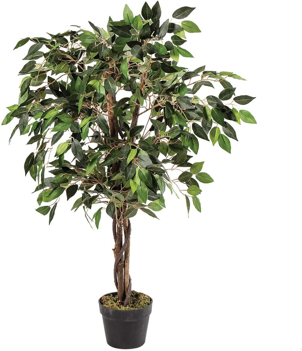 OakRidge Artificial Ficus Tree, Silk Tree Home Décor, 3 Feet Tall