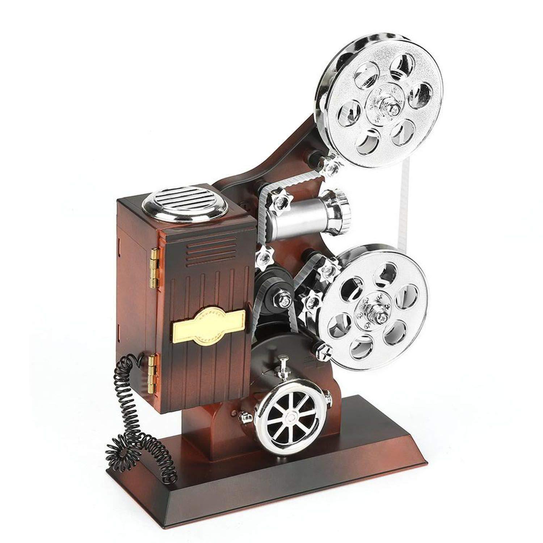 wall-8-CC Caja de música Vintage Estilo proyector joyero con ...