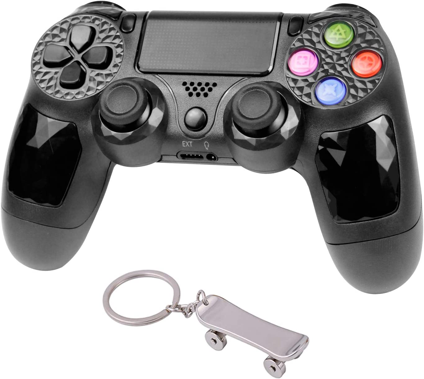 Wireless Controller for PS4, Professional Six-axis Gaming Controller Wireless Dual Shock Gamepad with Built-in Speaker and LED Touch Pad for Playstation 4, Playstation 3, PC, Laptop
