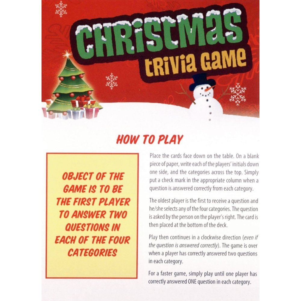 Amazon.com: Christmas Trivia: Toys & Games