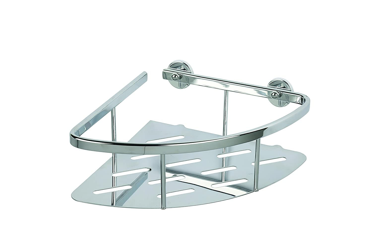 Croydex Aluminum Corner Bathroom Storage Basket Shower Caddy ...
