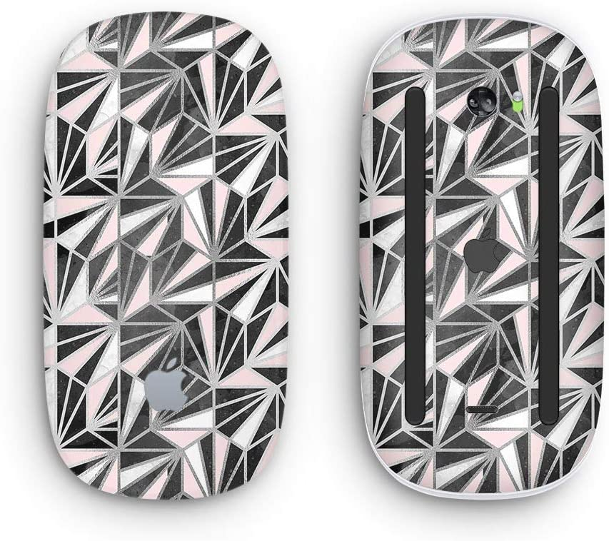 Wireless, Rechargable Design Skinz Premium Vinyl Decal for The Apple Magic Mouse 2 Karamfila Silver /& Pink Marble V4 with Multi-Touch Surface