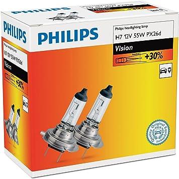 H7 12v 55w Px26d Vision 30 2st Philips Auto
