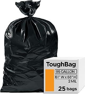 "New Big Black Recycling Trash Bin Plastic Outdoor Refuse Bags Size 18/""x29/""x39/"""