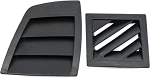 Red Hound Auto Front Air Vent Grille Cover Set Compatible with Chrysler Dodge (2006-2007 Charger, 2005-2007 Magnum & 300) Demister Left & Right