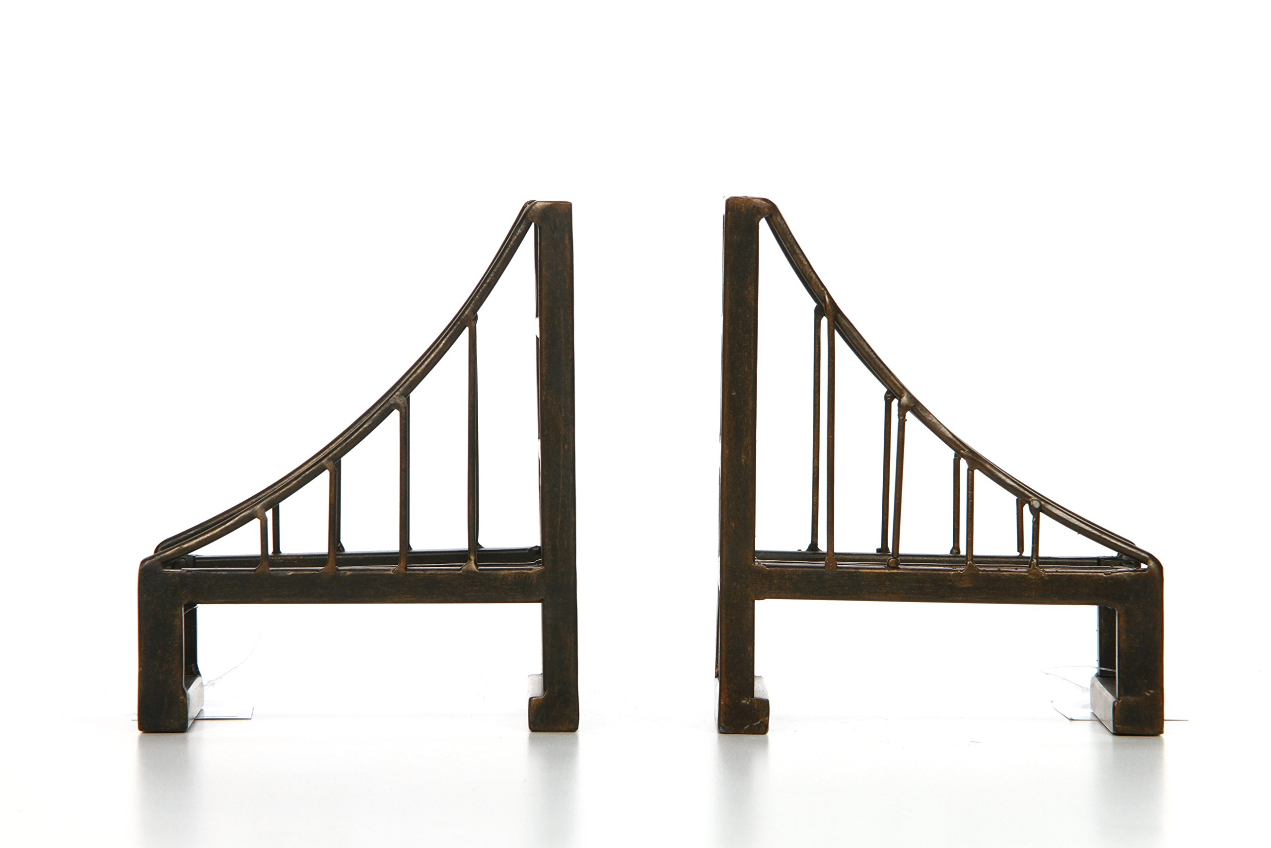 Hosley's Set of 2-6'' High, Decorative Tabletop Bridge Bookends, Brown. Ideal Gift for Wedding, Home, Party Favor, Spa, Reiki, Meditation, Bathroom Settings O3