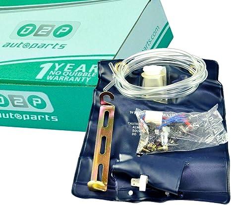 D2P Parabrisas arandela Jet Fluid Bolsa Botella/Tanque/Bomba 12 V 1.0Ltr Kit