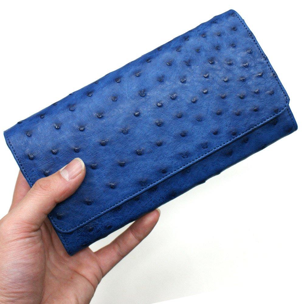 c062031e5f35 Amazon | AIZOME-OST1080 オーストリッチレザー長財布:万能タイプ:藍染仕上げ「無双」 | レディースバッグ・財布