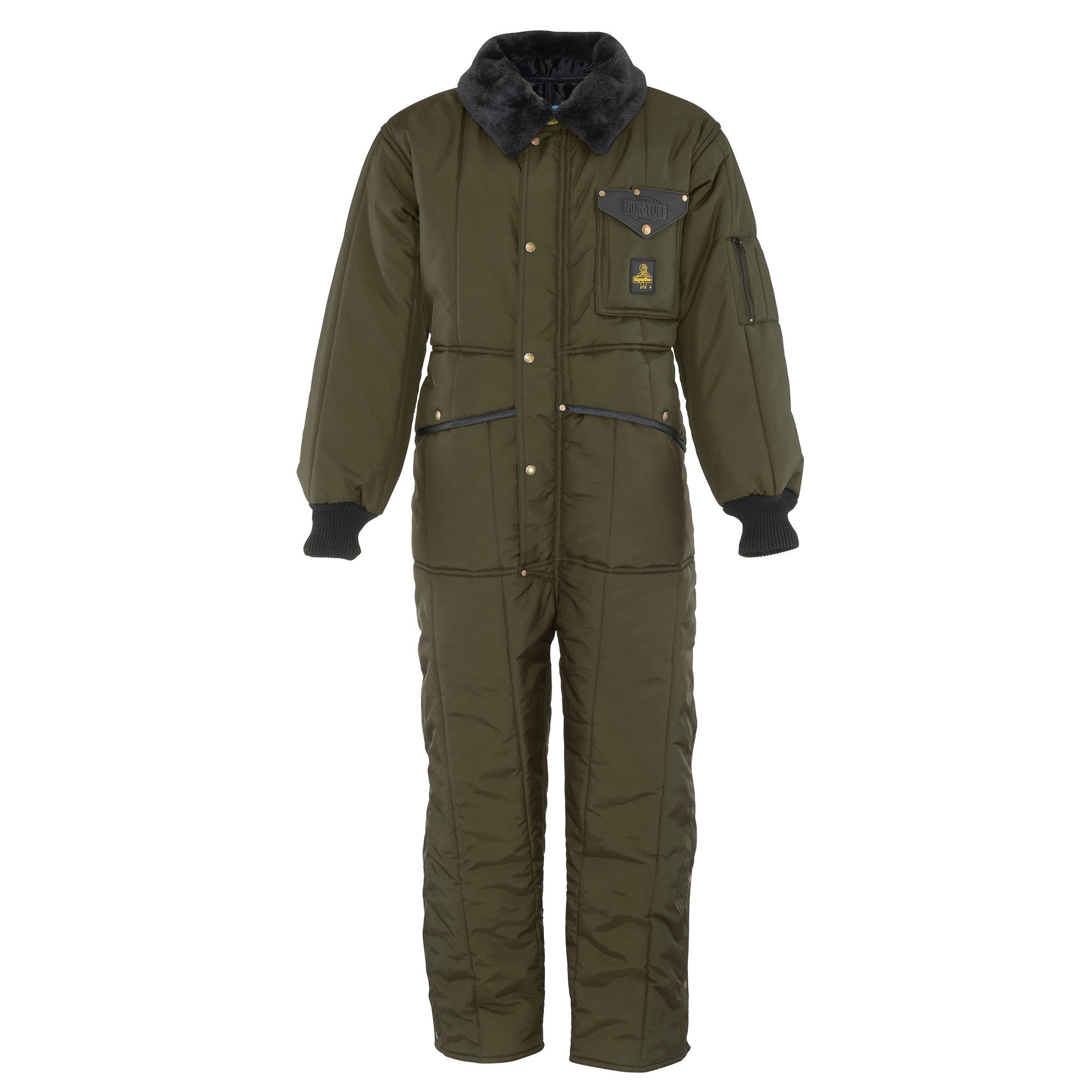 RefrigiWear Men's Iron-Tuff Coveralls Minus 50 Suit (Sage, XL Short)