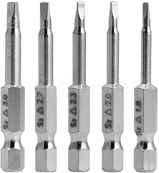 Silverhill Tools ABSTR6 6pc Triangle Head Bit Set Power Bit Style TA14 TA18,