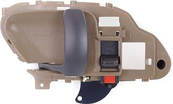 Amazon Com Interior Front Door Handle Compatible With Gmc C K Full Size P U 1995 2002 Suburban 1995 1999 Lh Beige Rear Automotive
