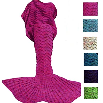 Amazon Abc Outlet Mermaid Blanket Knitted Mermaid Sleeping Bag