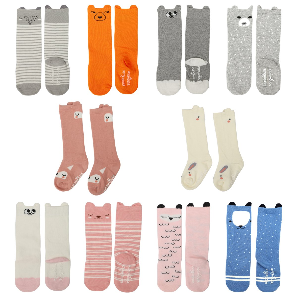 c03ee93c7c8 High quality material - Our baby knee high socks are made of cotton    spandex. Soft touch! Breathable! Lovely animal design - Pink bear