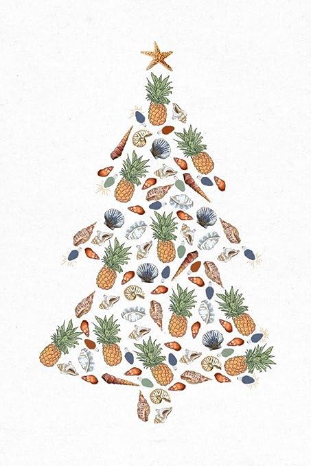 Tropical Christmas.Amazon Com Tropical Christmas Tree Holiday 16x24 Giclee